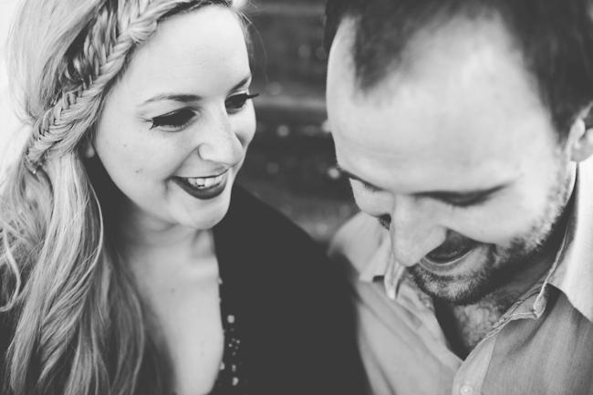 engagement photoshoot couple laughing close up
