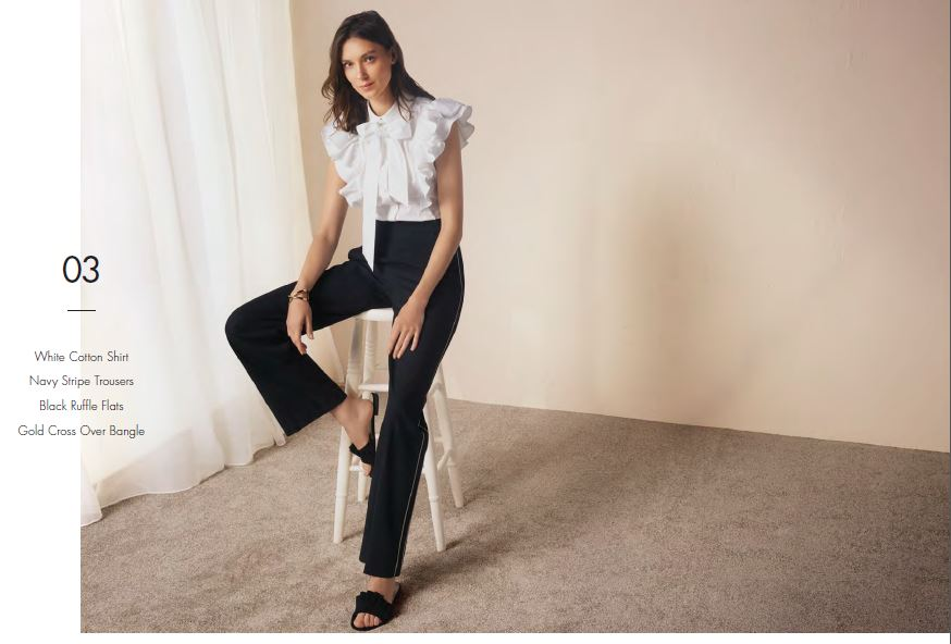 perfect white shirt frills karen millen